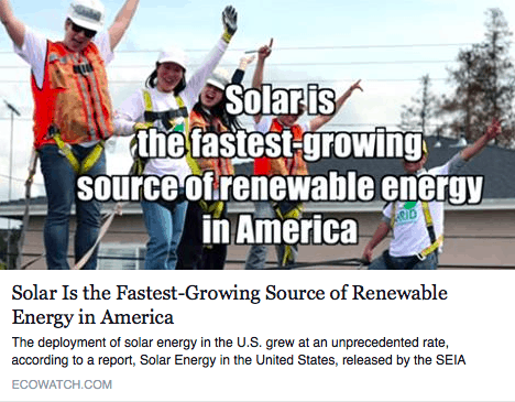 solar energy is fastest growing renewable