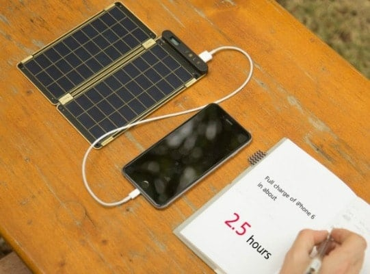 solar energy iphone charger