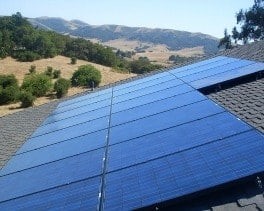 solar panels country home