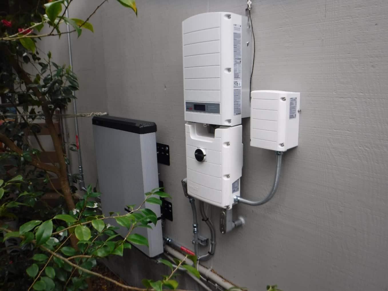 solar battery installed